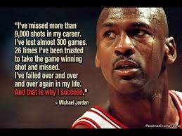 The art of failure - Michael Jordan quotes